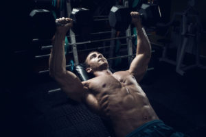 Dumbbell press bodybuilding chest workout